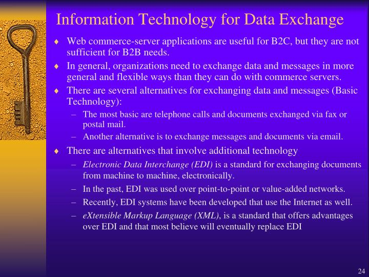 Information Technology for Data Exchange