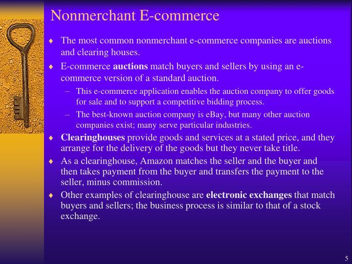 Nonmerchant E-commerce