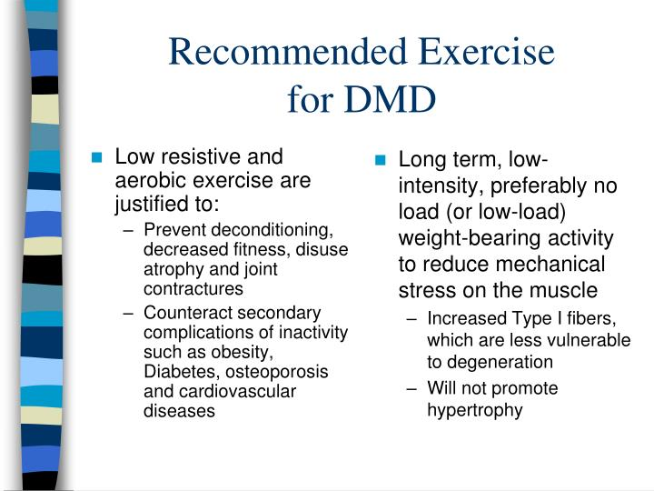 Low resistive and aerobic exercise are justified to: