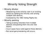minority voting strength
