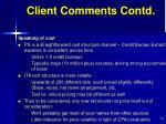 client comments contd1
