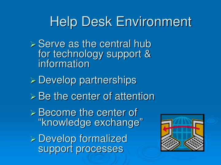 Help desk environment