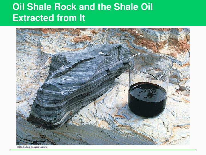 Oil Shale Rock and the Shale Oil Extracted from It