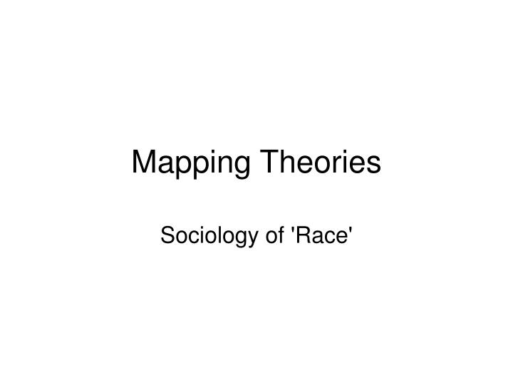 mapping theories n.