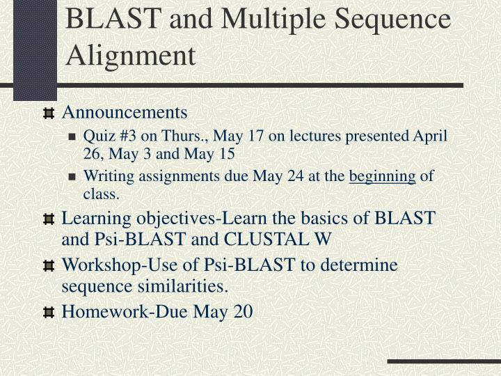 Blast and multiple sequence alignment