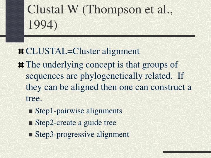 Clustal W (Thompson et al., 1994)