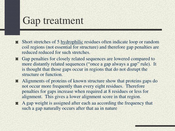 Gap treatment
