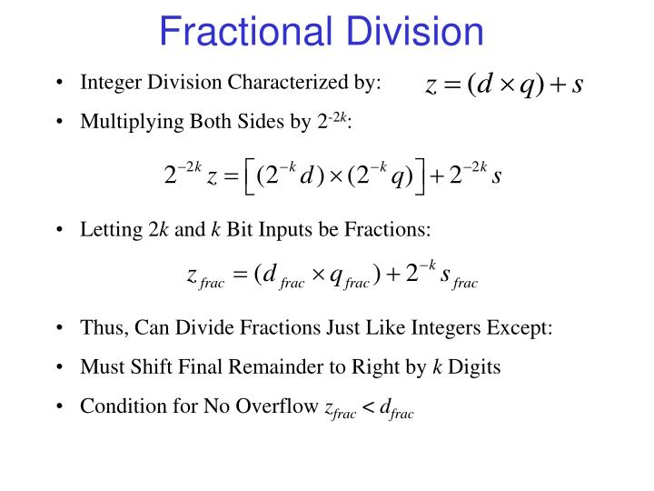 Fractional Division