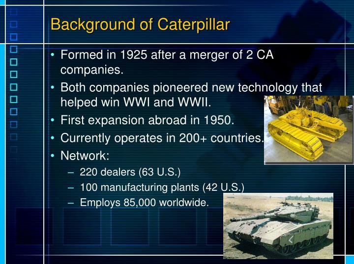 Background of Caterpillar