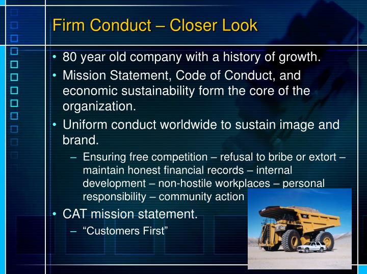 Firm Conduct – Closer Look
