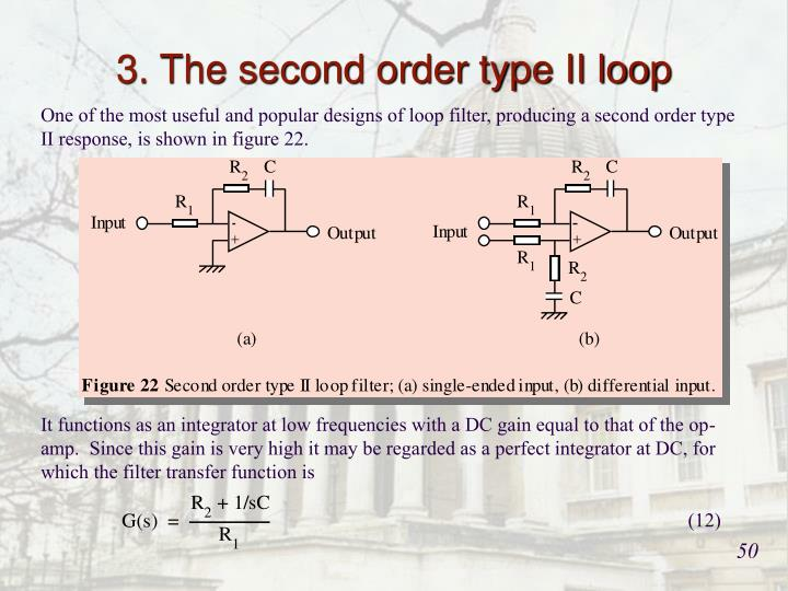 3. The second order type II loop