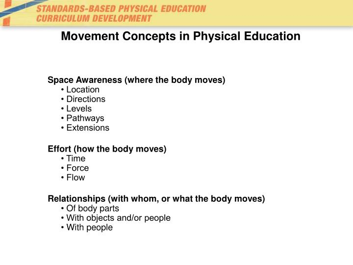 Movement Concepts in Physical Education