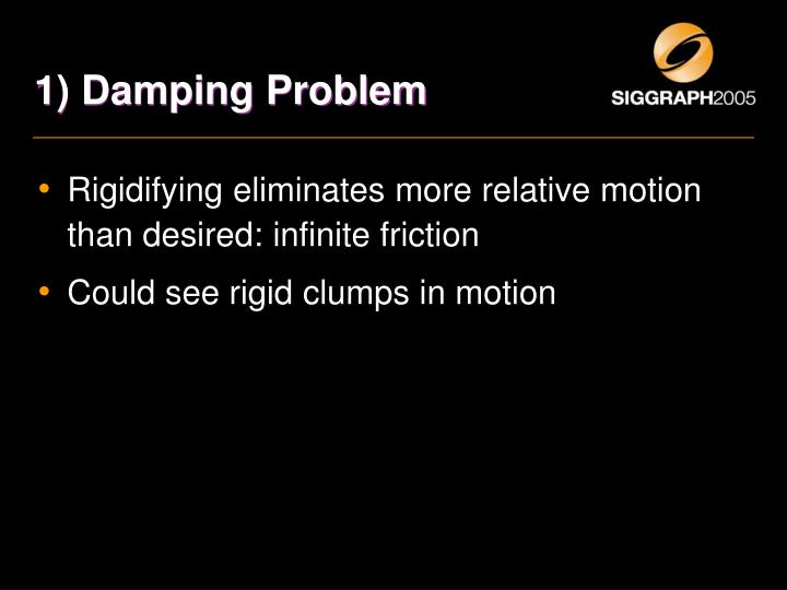 1) Damping Problem