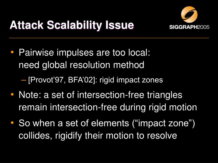 Attack Scalability Issue