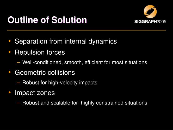 Outline of Solution