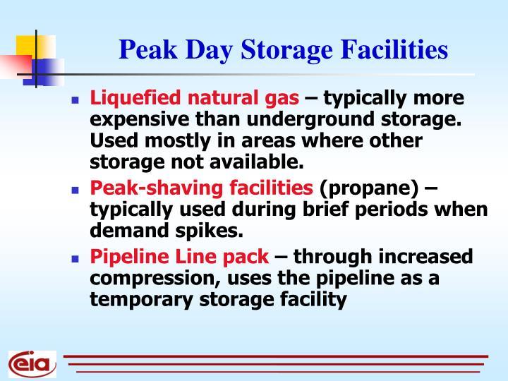 Peak Day Storage Facilities