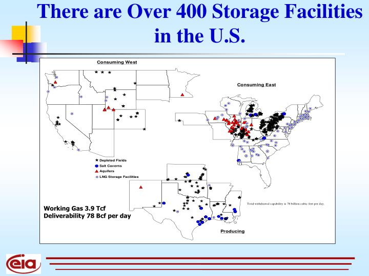 There are Over 400 Storage Facilities in the U.S.