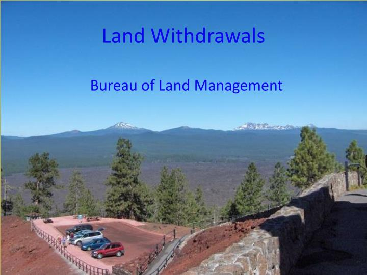 Land Withdrawals