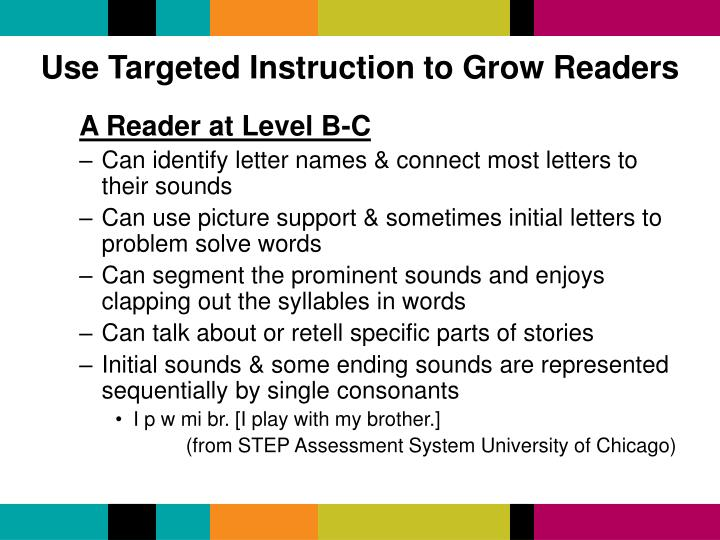 Use Targeted Instruction to Grow Readers