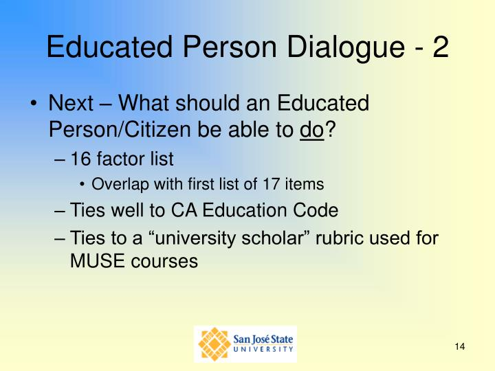 Educated Person Dialogue - 2