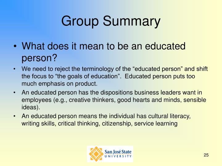 Group Summary