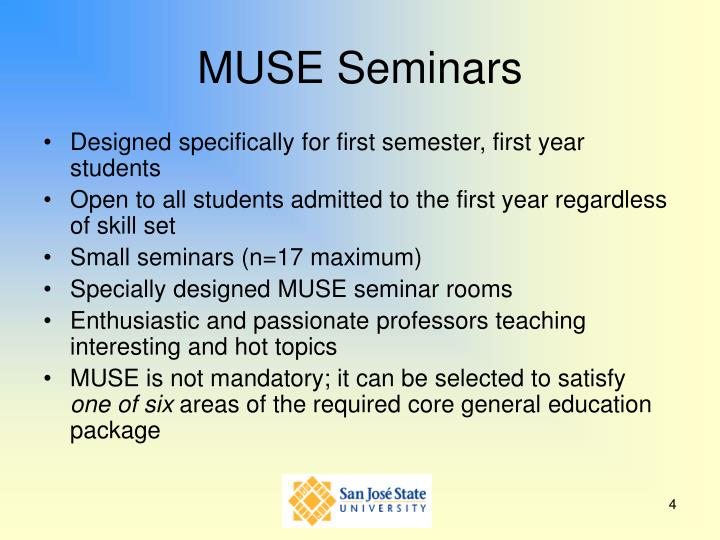 MUSE Seminars