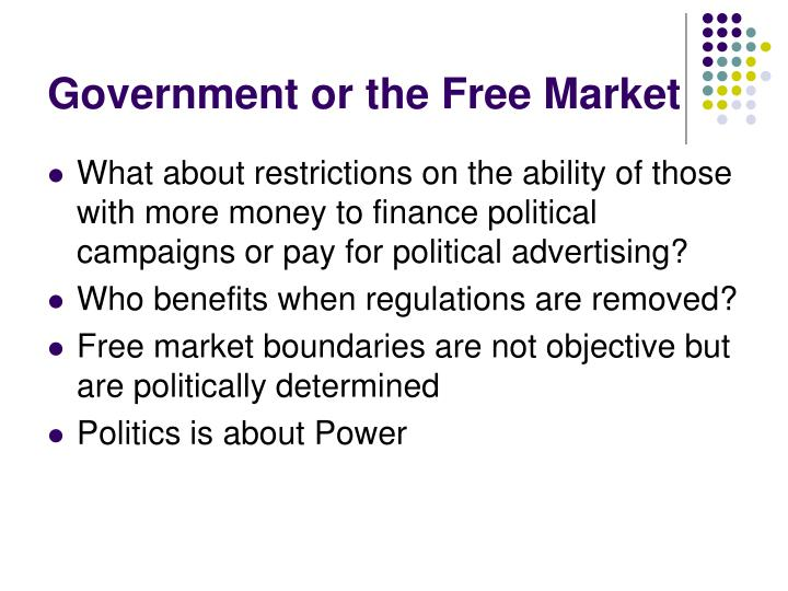Government or the Free Market