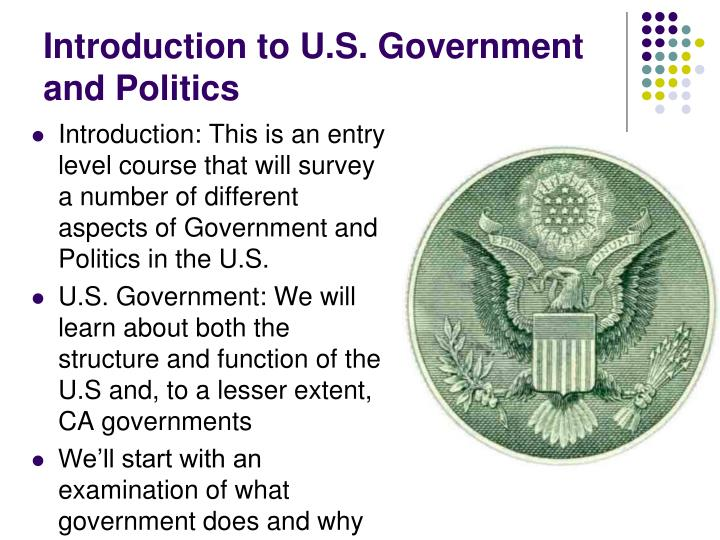 Introduction to u s government and politics