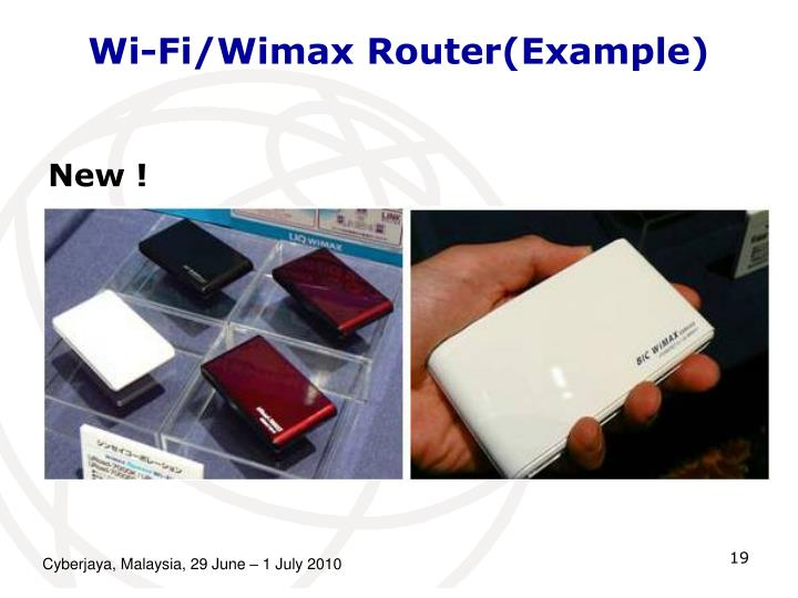 Wi-Fi/Wimax Router(Example)