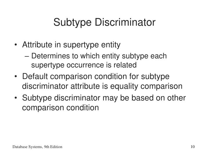Subtype Discriminator