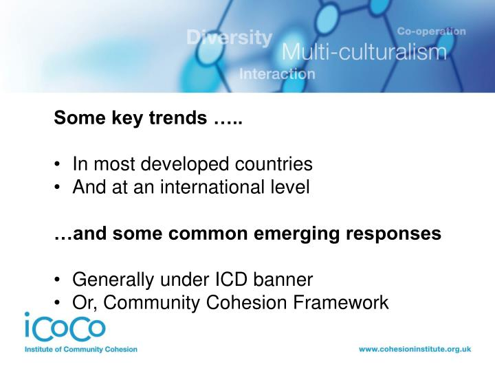 Some key trends …..