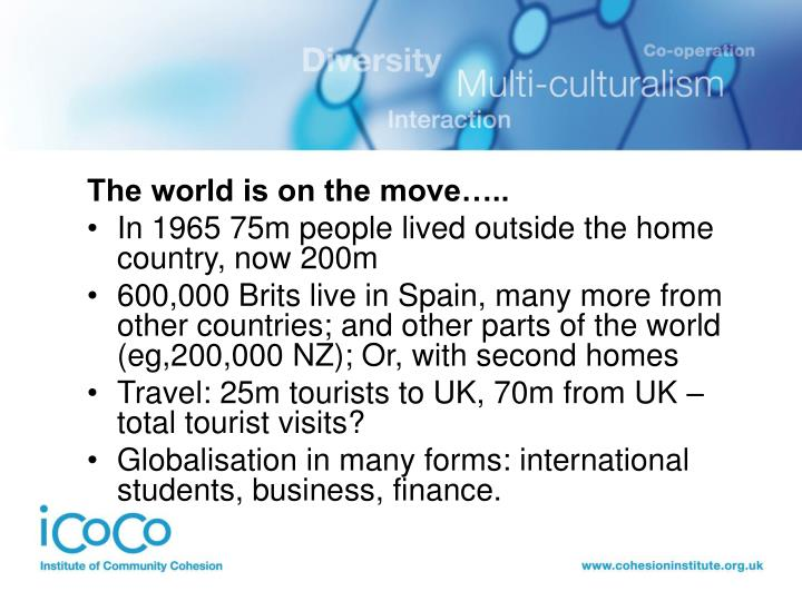The world is on the move…..