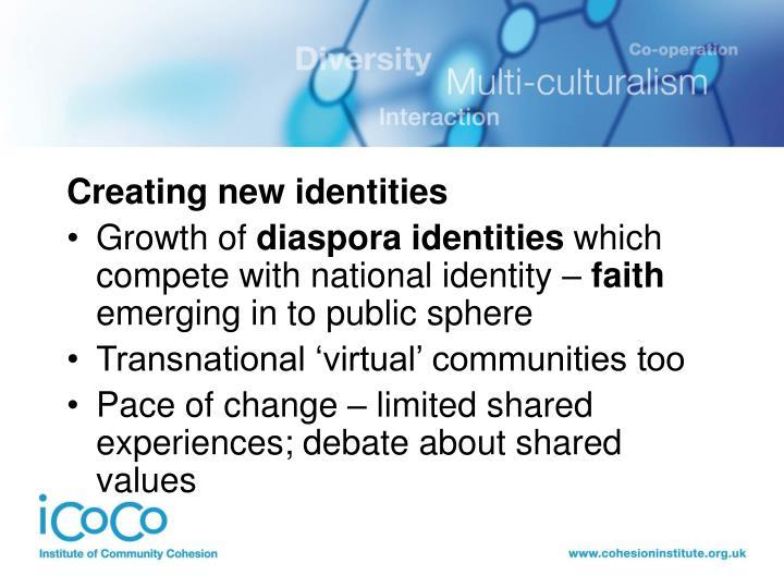 Creating new identities