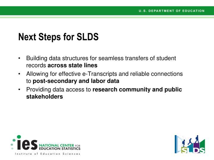 Next Steps for SLDS