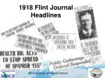 1918 flint journal headlines