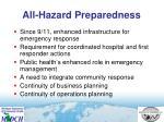 all hazard preparedness