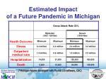 estimated impact of a future pandemic in michigan