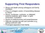 supporting first responders