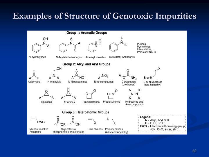 Examples of Structure of Genotoxic Impurities