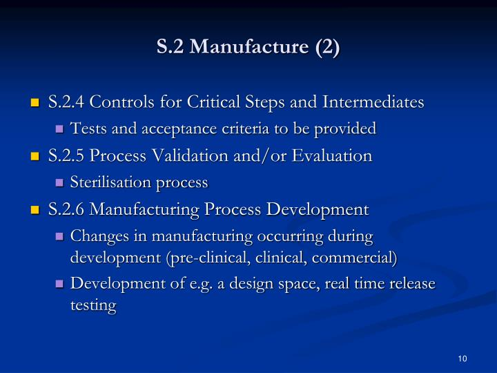 S.2 Manufacture (2)