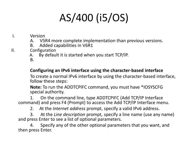 AS/400 (i5/OS)