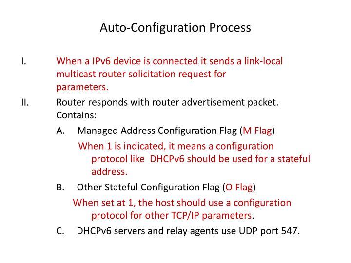 Auto-Configuration Process