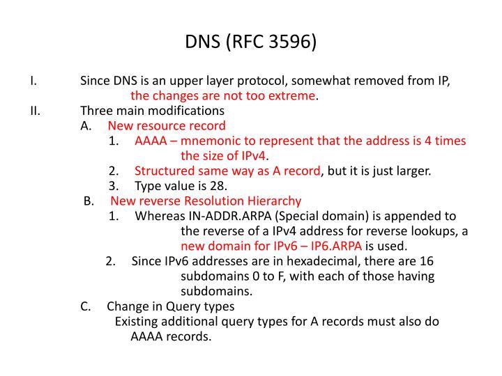 DNS (RFC 3596)