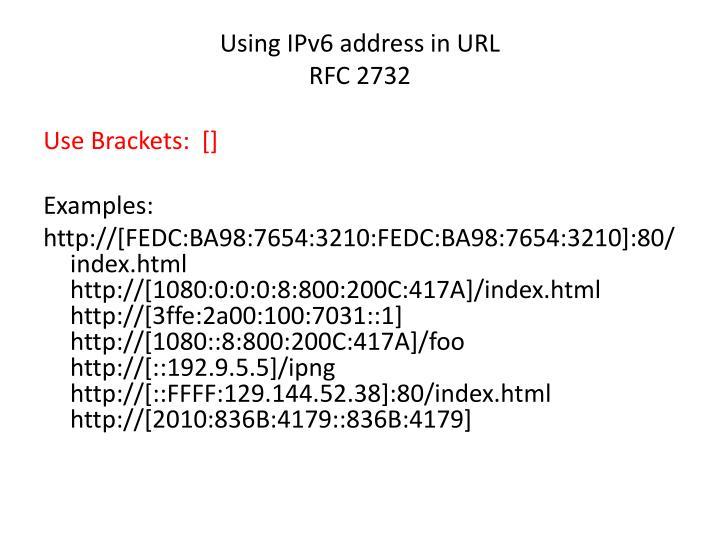 Using IPv6 address in URL