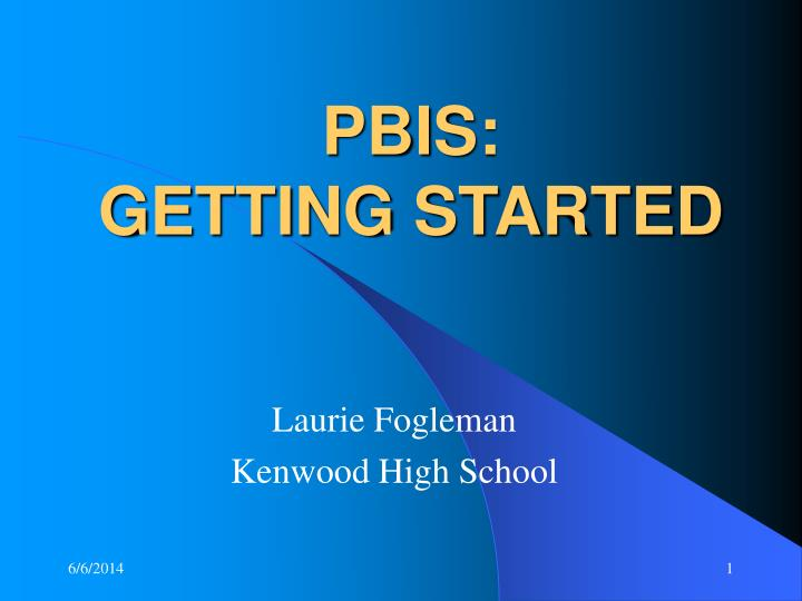pbis getting started