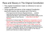 race and slavery in the original constitution