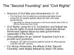 the second founding and civil rights
