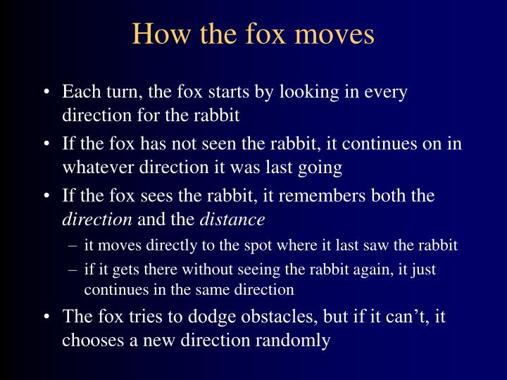 How the fox moves