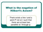 what is the negation of hilbert s axiom
