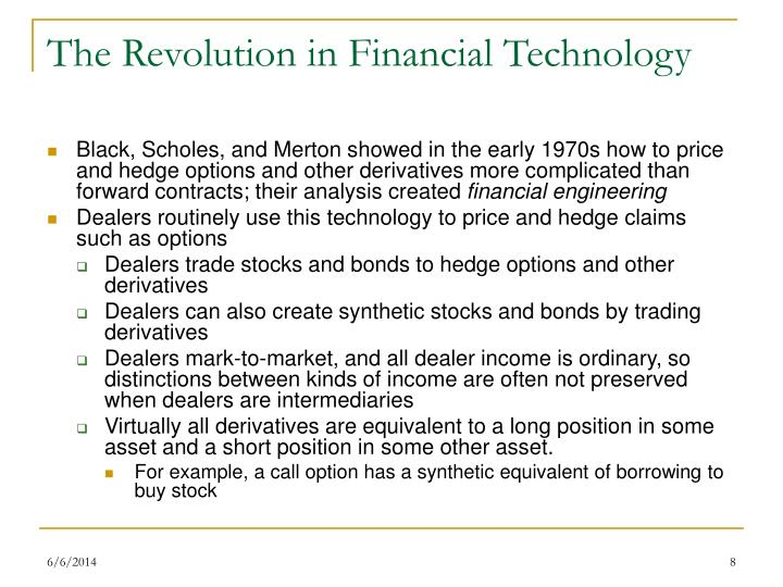 The Revolution in Financial Technology